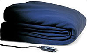 Electric blanket Price: $34.99 Instead of wasting time and polluting the neighborhood by letting the car run until the interior is warm enough for a long commute, plug in an electric blanket and go.
