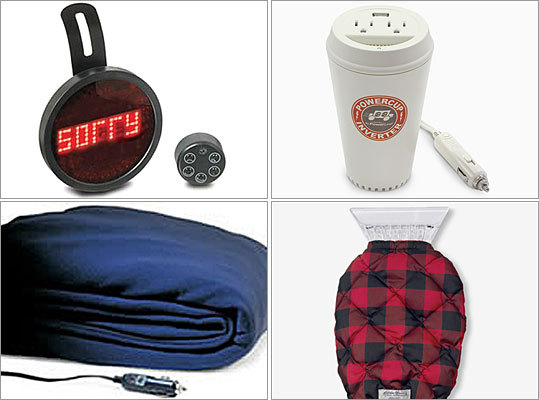 Cars are almost like family members -- not as close as pets, but not as distant as seldom-visited second cousins. And since four-wheeled friends take a serious beating during New England winters, cars shouldn't be left out of the gift-giving loop. Here are nine gifts that will make engines purr and automobile lovers smile.