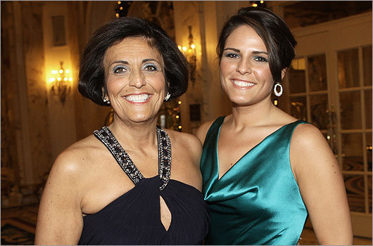 Nov. 27 in Boston From left: Catherine Pantazopoulos and her daughter Christina Hassel, both of Swampscott.