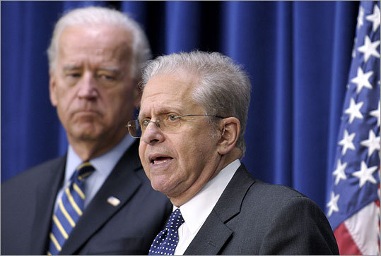 Laurence Tribe spoke at the White House on Nov. 19 during a middle-class task force event. Tribe is leaving his position at the White House after nine months to return to Harvard Law School.