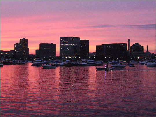 Springfield native Art Boudreau — he now lives in Murrieta, Cali. — shared his photo of the 'beautiful sunset on the Charles River in preparation for the 4th of July fireworks.'