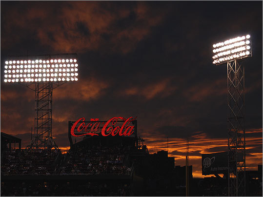 Tara Carlson of Allston took this photo of Fenway Park on Aug. 18, 2010, before the Red Sox beat the Angels.