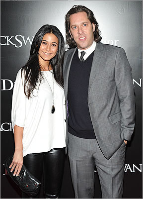 Emmanuelle Chriqui and Rick Schwartz