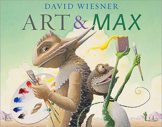 'Art & Max' An exciting and memorable creation, David Wiesner's 'Art & Max' (Clarion) combines great book design, classic typography, and meticulous production, making it a book that people love to hold in their hands as much as they enjoy reading it.