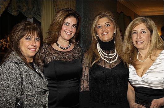 Dec. 9 in Boston From left: Margaret Atinizian of Winchester, Nina Festekjian of Lexington, Aida Bejakian of Winchester, and Lena Derkevorkian of Lexington.