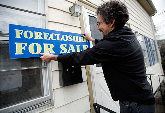 6. Foreclosures mount amid questions As Massachusetts foreclosures mounted at a record pace and more people turned to renting by choice , banks and lenders became tangled in mistakes employees made while blindly signing off on foreclosures . As more people regained ownership of their foreclosed homes, lenders admitted there was an issue and Secretary of State William F. Galvin said he plans to submit a bill that would force Massachusetts mortgage lenders to get court approval before seizing homes.