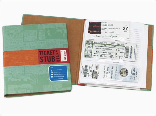 Ticket Stub diary Price: $10 Give friends an easy way to store tickets from memorable movies, concerts, and winning Red Sox games in this diary. Who knows -- maybe that ' Harry Potter and the Deathly Hallows: Part One ' stub will be worth something one day.