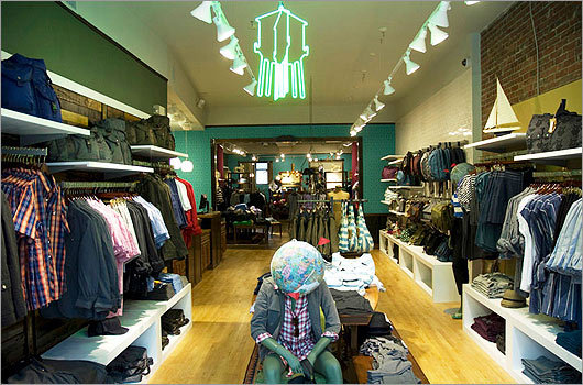 Brooklyn Industries Featuring laid-back, artsy clothes for men and women, this rustic-looking shop is designed to sustain both the planet and the need for effortless, casual fashions. Decorated with used furniture and environmentally safe materials, the Boston store is one of the latest outposts of a company that stresses urban, eco-friendly style. 337 Newbury Street, Boston, 617-266-7757, brooklynindustries.com