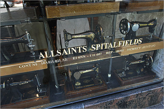 AllSaints Spitalfields AllSaints continues Boston&#8217;s British fashion invasion, stocking the kind of hip, understated clothes and accessories you&#8217;d find in an indie band&#8217;s closet. Decked out like an abandoned sewing machine factory, the roomy store caters to street-chic guys and gals, with a smattering of tiny tykes sizes thrown in. 122 Newbury Street, Boston, 617-517-0894, us.allsaints.com Best of the New: Food & restaurants | People & places Shopping & services | Diversions