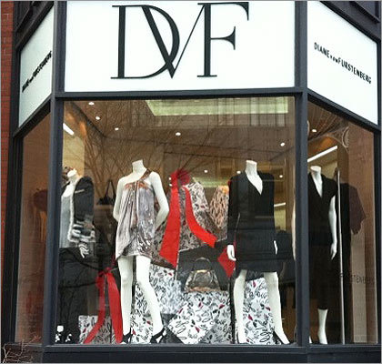 Diane von Furstenberg DVF is still going strong decades after her iconic wrap dress debuted, with the 63-year-old namesake designer serving as a fashion role model for all ages. Furstenberg's stated mission is to empower women with day-to-evening fashions that are both strong and sexy, exactly the styles that fill this new boutique, including many exclusives. 73 Newbury Street, Boston, 617-247-7300, dvf.com