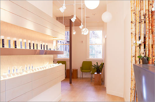 """Skoah If you like the idea of facials but can't abide New Age-y background music and wind chimes, Skoah spa in the South End is for you. Started in Vancouver, British Columbia, Skoah calls its services """"personal training for your skin,"""" with relaxing but no-nonsense spa treatments and facials, along with its own all-natural, high-performance products. 641A Tremont Street, Boston, 857-350-4930, skoahboston.com"""