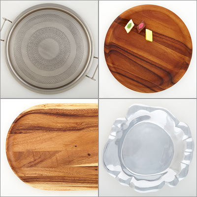 Platters from Pier 1, Sur La Table, Target and Joy