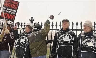 Veterans hope rally, arrests raise antiwar profile