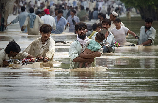 Flooding in Pakistan Flooding devastated Pakistan during July and August, destroying the country's agricultural heartland and leaving more than a third of the country under water. Officials say the flooding was the worst in 80 years. Read the story .