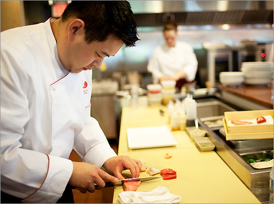 Executive Chef/Owner Chris Chung at Aka Bistro in Lincoln
