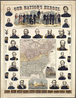 Our Nation's Heroes, published by Ensign, Bridgman & Fanning, 1863