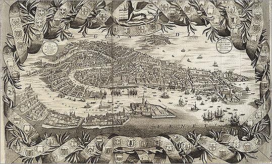 Cita di Venetia by Vincenzo Coronelli, 1693