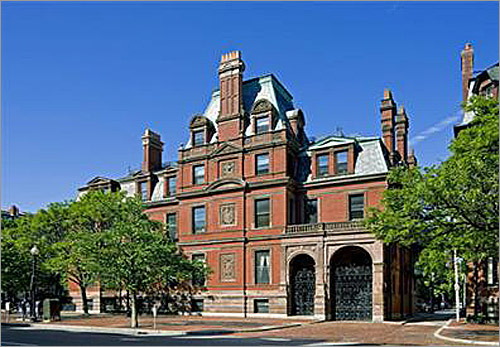 A Boston mansion - with plenty left over for the taxes The most expensive piece of real estate on the market in Boston is the Ames-Webster Mansion on Dartmouth Street in the Back Bay, with an asking price of $23 million. If you won the lottery, you'd not only be able to afford this luxurious home in the heart of Boston, but also its annual tax bill of $147,722 for more than 2,000 years. Note: The home is the most expensive Boston home in the Boston.com real estate listings.