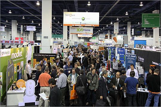 The 2011 edition of one of the biggest gadget shows in the United States - the International Consumer Electronics Show in Las Vegas - was held in early January. Tablet computers and newer, better smartphones, and an assortment of odd and unique gadgets were unveiled at the gadget show. Click through to see some of the gadgets and consumer electronics that were showcased at this year's show. &#8211; Compiled by Carli Velocci and Jesse Nunes, Boston.com