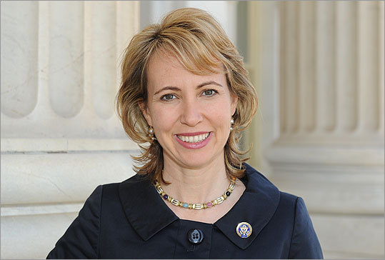 Representative Giffords posed in this March 2010 photo provided by her office.