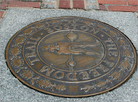 Freedom Trail The Freedom Trail is a 2.5 mile walking trail that takes you to 16 historic sites. Map , More information