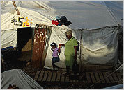 Haitians in tent cities