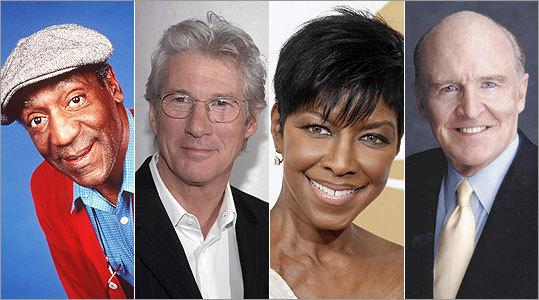 There are several notable UMass alums including (from left to right) Bill Cosby, Richard Gere, Natalie Cole and former General Electric CEO Jack Welch.