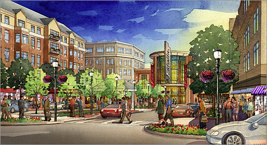 Quincy Shown here is another rendering of the Quincy project, seen from Hancock Street.