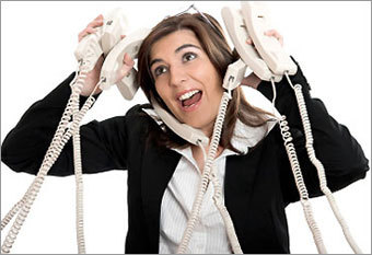 Go hands-free Wilcox says if you take many long calls (more than 5 minutes) throughout the day, you should use a headset or a hands-free speaker phone. Using your arm and or neck muscles constantly to hold a phone receiver puts a lot stress on the neck and upper shoulder muscles.