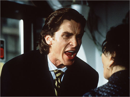 American Psycho Main character Patrick Bateman (Christian Bale) is a wealthy investment banker in New York with a big ego and dreams of increasing his wealth further.