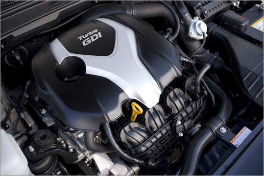 The 2.0-liter four-cylinder engine in the Hyundai Sonata Turbo