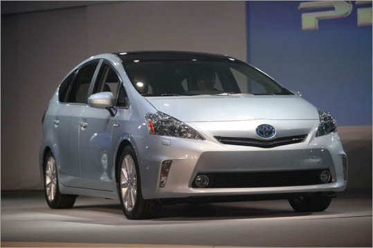 The 2012 Toyota Prius V in Detroit.