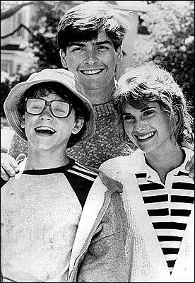 Corey Haim, Charlie Sheen, and Kerri Green in 'Lucas'