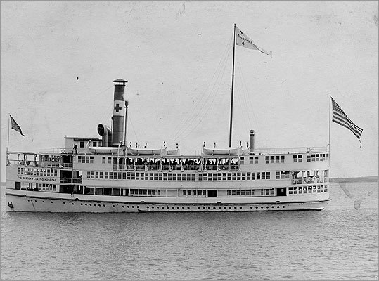 The Boston Floating Hospital was born in 1894 on a rented boat, according to Tufts Medical Center. At the time, the boat took sick children and their mothers out for a cruise on Boston Harbor to experience what doctors believed at the time were 'beneficial harbor breezes.'