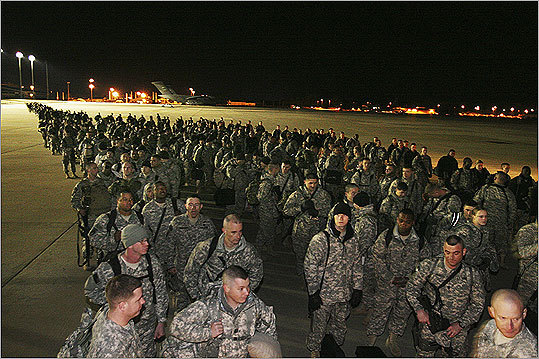 Approximately 150 paratroopers from the 82nd Airborne Division got ready to deploy in support of Operation Enduring Freedom in Afghanistan on January 10, 2007 in Fort Bragg, North Carolina.