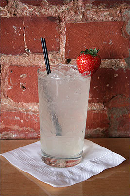 Skinny Gingerman $10, The Abbey In the mix: 1½ ounces gin 1 ounce Domaine de Canton ginger liqueur 1 splash lime juice Ginger beer Stir first three ingredients and top with ginger beer. Garnish with a strawberry. More information on the next slide . . .