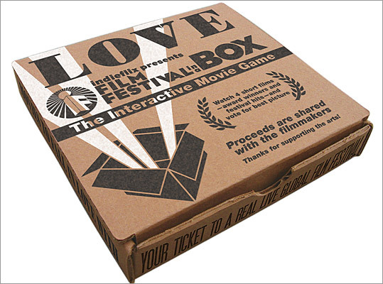Romantic film festival - in a box Price: $18 Stay in with your special someone and indulge in your own mini movie festival. Watch four independent short films - ranging from 25 to 50 minutes each - that are centered on the theme of love.