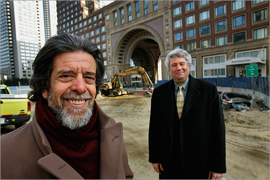 New Center for Arts and Culture Ronald M. Druker, then chairman of New Center for Arts and Culture, and Mark Sokoll, president of Jewish Community Centers Greater Boston, posed in 2005 at the site of the proposed museum.