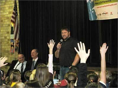 Koppen visits St. Agnes Elementary