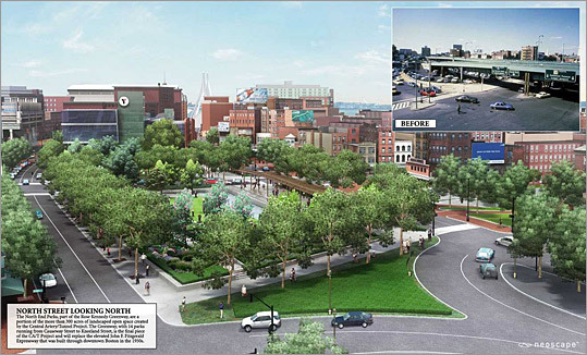 YMCA of Greater Boston Proposed: 2003 Status: Abandoned February 2011 The board of directors of the YMCA of Greater Boston voted to abandon a proposed $70 million building near the North End, citing the high costs of building over highway ramps that cover most of the property.