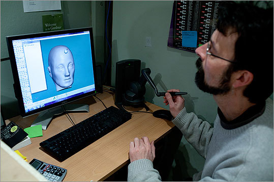 The Chamberlain Group's master sculptor, Stephen Thurn, used 3D sculpting software to make medical models.