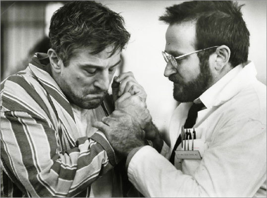Awakenings 1990 A new doctor (Robin Williams) is charged with overseeing patients who have been catatonic for decades. When a new treatment shows promise for curing them, Williams gets permission to try the new drug on one patient (Robert DeNiro) who went into his coma when he was just a teen.