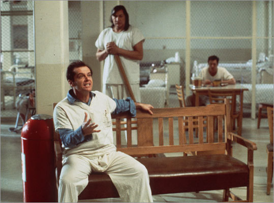 One Flew over the Cuckoo's Nest 1975 A rabble-rousing patient (Jack Nicholson) wants to organize fellow mental patients against the head nurse of their ward.