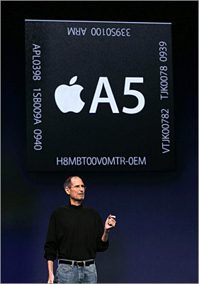 It is much faster The new iPad has a faster processor than its predecessor. It will contain Apple's newer, faster A5 processor, which is a dual-core processing chip. The new chip will be up to twice as fast as the previous version, with graphics processing occurring up to nine times faster.