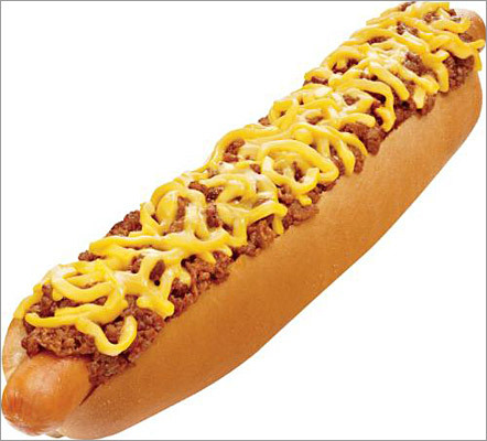 Sonic's footlong, quarter-pound chili cheese dog Last summer, Sonic introduced this gigantic hot dog for a limited time. This monster dog was available with chili and cheese toppings 'reminiscent of summer picnics, baseball game, and family gatherings,' according to the company's press release . Would you devour this footlong? customer surveys