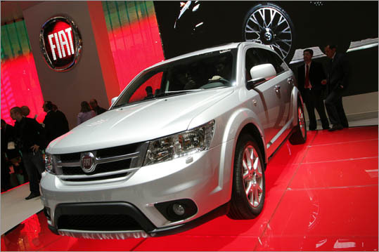 The slow-selling Dodge Journey now wears a Fiat badge in Europe as the new Freemont. It's part of the cost-saving Chrysler-Fiat strategy to rebrand each other's models for their respective home markets. Soon, we'll be seeing Fiat and Lancia models sold here under the Dodge name.