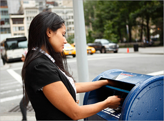 Mail at the post office If e-filing is out of the question, the safest way to mail your tax returns out is to take it straight to the post office. In this instance, you know that your tax return got to its destination.