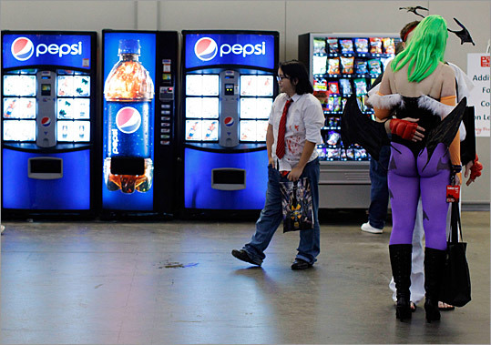 Many convention-goers dress up as their favorite game characters.