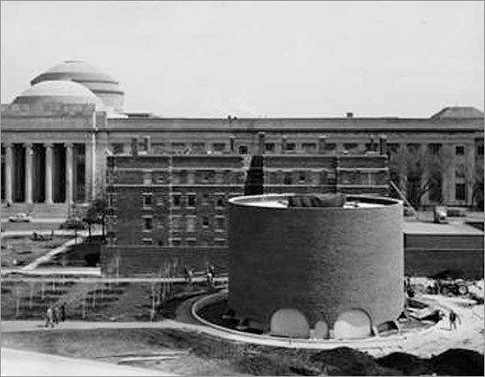 The second phase of MIT expansion took place after World War II, with construction of Kresge Auditorium, left, and the MIT Chapel.