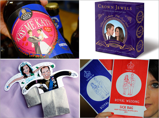 The royal wedding is on April 29, and much of the world has been gripped with wedding fever. Many fans of princess-to-be Kate Middleton and Prince William can celebrate by following the details of the UK's first royal wedding in 30 years, or by purchasing souvenirs to incorporate the couple in their everyday lives. From pieces of china to